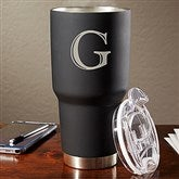 The Big Boss Personalized 30oz. Stainless Steel Initial Travel Mug - 17753