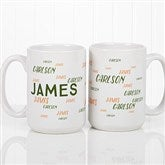 Hello! My Name Is Personalized Coffee Mug 15 oz.- White - 17754-L