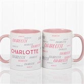 Hello! My Name Is Personalized Coffee Mug 11 oz.- Pink - 17754-P