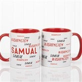 Hello! My Name Is Personalized Coffee Mug 11 oz.- Red - 17754-R