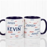 Hello! My Name Is Personalized Coffee Mug11 oz.- Blue - 17754-BL