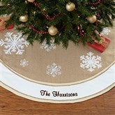 Rustic Chic Burlap Embroidered Tree Skirt - 17776