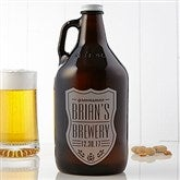 Beer Label Personalized 64oz. Beer Growler