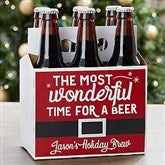 Wonderful Time For A Beer Personalized Beer Bottle Carrier - 17787-C