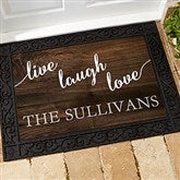 Live, Laugh, Love Personalized Personalized Doormat- 18x27 - 17790