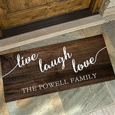 Live, Laugh, Love Personalized Oversized Doormat- 24x48 - 17790-O
