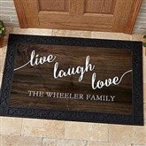 Live, Laugh, Love Personalized Personalized Doormat- 20x35 - 17790-M