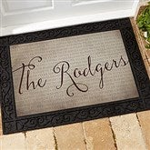 Together Forever Personalized Doormat- 18x27 - 17791