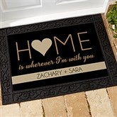 HOME With You Personalized Doormat- 18x27 - 17792