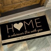 HOME With You Personalized Oversized Doormat- 24x48 - 17792-O