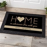HOME With You Personalized Doormat- 20x35 - 17792-M