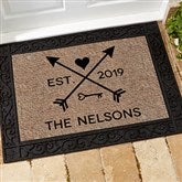 Arrows of Love Personalized Doormat- 18x27 - 17793