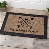 Arrows of Love Personalized Doormat- 20x35 - 17793-M