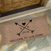 Arrows of Love Personalized Oversized Doormat- 24x48 - 17793-O