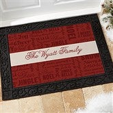 Winter Melody Personalized Personalized Doormat- 18x27 - 17794