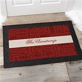Winter Melody Personalized Personalized Doormat- 20x35 - 17794-M