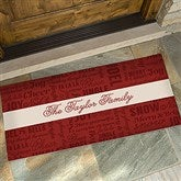 Winter Melody Personalized Oversized Doormat- 24x48 - 17794-O