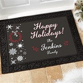 Wintertime Wishes Personalized Doormat- 18x27 - 17795