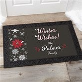Wintertime Wishes Personalized Doormat- 20x35 - 17795-M