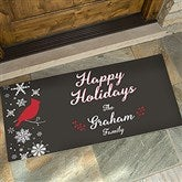 Wintertime Wishes Personalized Oversized Doormat- 24x48 - 17795-O