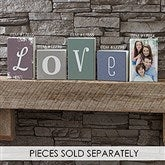 Personalized Single Letter Decor Square Shelf Blocks- 5