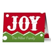 Jolly Jester Personalized Christmas Cards - 17824