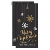Snowflakes Personalized Postcards - 17829