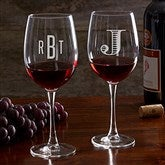 Classic Celebrations Personalized 19 1/4oz. Red Wine Glass- Monogram - 17830-RM