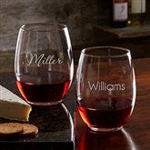 Classic Celebrations Personalized 21oz. Stemless Wine Glass - Name - 17830-SN