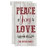 Peace, Joy, Love Holiday Postcard - 17831