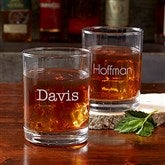 Classic Celebrations Engraved Old Fashioned Whiskey Glass - Name - 17834-N