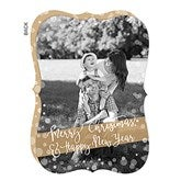 Golden Holidays Personalized Photo Cards - Vertical - 17836-V