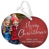Together Forever Personalized Hanging Photo Ornament Cards - 17841