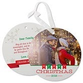 Holiday Banner Personalized Hanging Photo Ornament Cards - 17842