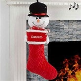 3D Musical Snowman Personalized Stocking - 17845-SM