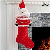 3D Musical Santa Personalized Stocking - 17845-S