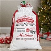 Special Delivery From Santa Personalized Canvas Drawstring Santa Sack - 17846