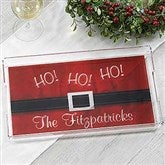 HO! HO! HO! Santa Belt Personalized Acrylic Tray - 17851