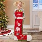 Joyful Flurries Personalized Oversized Stocking