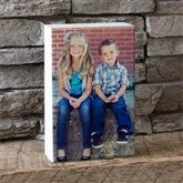 Personalized Photo Rectangle Shelf Blocks- 4.5