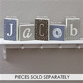 Personalized Single Letter Decor Rectangle Shelf Blocks- 4.5