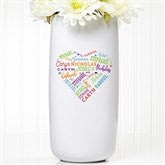 Close To Her Heart Personalized Ceramic Vase - 17860