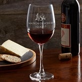 Bridal Party Engraved Red Wine Glass Collection 19 1/4oz. - 17863-R