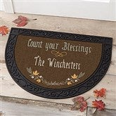Count Your Blessings Personalized Half Round Doormat - 17869