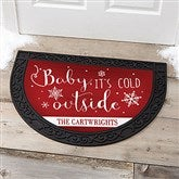 Christmas Quotes Personalized Half-Round Doormat - 17872