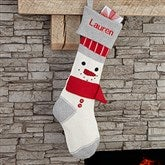 Snowman Personalized Knit Stocking - 17882-S