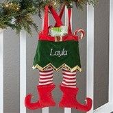Girl Elf Feet Personalized Stocking