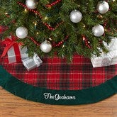 Holiday Plaid Personalized Tree Skirt - 17896