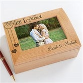 You're All I Need Personalized Photo Box - 17900