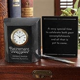 Timeless Recognition Personalized Retirement Marble Clock - 17912